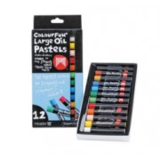 Oil Pastels Assorted LGE 12pk