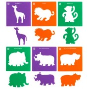 Stencil Jungle Animals 6pk