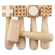 Wooden Pattern Hammers (Pack of 5)