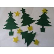 Felt Xmas Trees & Stars 50s
