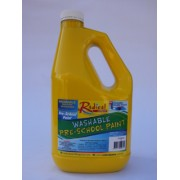 Radical Cascade Washable Pre-School Paint - Yellow (2 Litres)