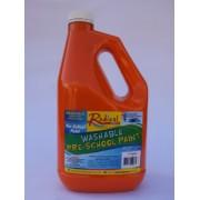 Radical Cascade Washable Pre-School Paint - Orange (2 Litres)