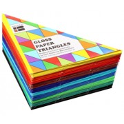 Kinder Paper - Triangles Gloss (Pack of 360)