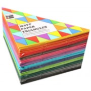 Kinder Paper Triangles - Matt (Pack of 360)