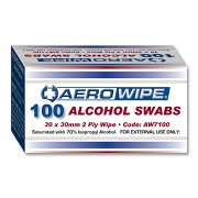Alcoholic Swab Wipes 100 Pack