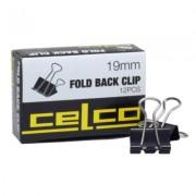 Foldback Clips 19mm 12pk