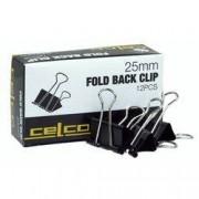 Foldback Clips 25mm 12pk