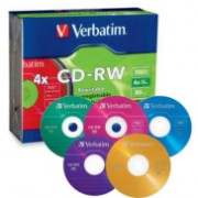 CD Re-Writable x4 (Pack of 5 )
