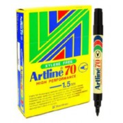 Artline 70 Perm - Black 12 Pack