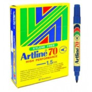 Artline 70 Perm - Blue 12 Pack