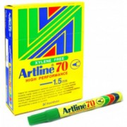 Artline 70 Perm - Green 12 Pack
