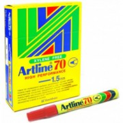 Artline 70 Perm - Red 12 Pack