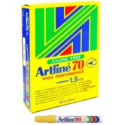 Artline 70 Perm - Yellow 12 Pack