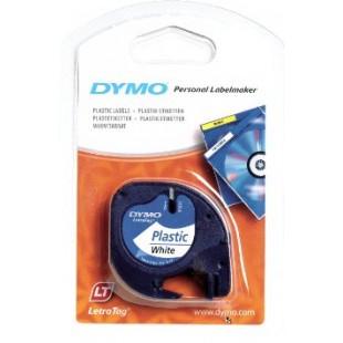 Dymo Letratag PVC B/W 12mmx4m