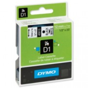 Dymo Tape 12mm x 7mt B/W