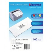 Unistat Labels 14per sheet