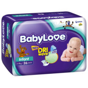 Babylove Infant 3-8Kg (Pack of 104)