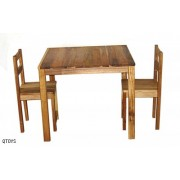 Hardwood Table & 2 Chairs