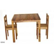 Hardwood Table & 2 Chairs