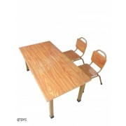 Steel Rectangle Table & Chairs
