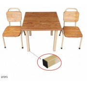 Steel Table & Stacking Chairs