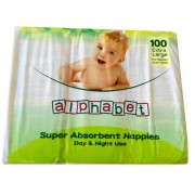 Alphabet Nappy Extra Large (Pack of 100)
