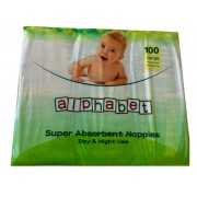 Alphabet Nappy Large (Pack of 100)
