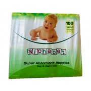 Alphabet Nappy Medium (Pack of 100)