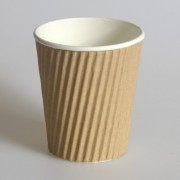 Brown Ripple Coffee Cups 12oz 25 Pack
