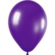Metallic Purple Balloons (Pack of 20)