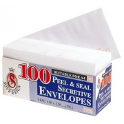 Envelopes DL Secret Peel/seal Pk100