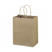 Brown Bag with Twist Handle 320x420x110mm (Pack of 50)