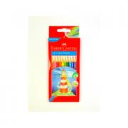 Pencils Coloured Faber-castell Hexagonal Bx12