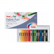 Pastel Fabric Fun Dye Stick Pen (Pack of 15)