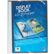 Display Book Sovereign A3 Insert Cover 20 Page Not Refillable