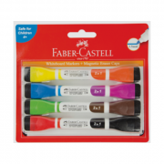 Marker Faber Castell Magnetic Whiteboard + Eraser Cap 8 Colours (Pack of 4)