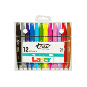 Marker Laser Bright Colour Texta (Pack of 12)