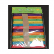 Craft Popsticks Coloured (Pack of 100)