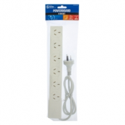 Powerboard 6 Socket With Overload Protection White The Brute Power Co.