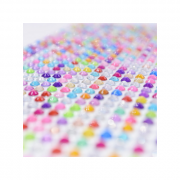 Rhinestone Diamond Stickers 4mm Assorted Colours (Pack of 600)