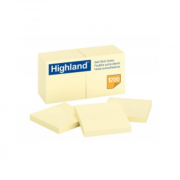 Stick On Notes Highland 6549 76x76 Yellow (Pack of 12)